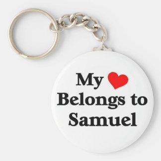 My heart belongs to samuel key chain