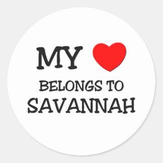 My heart belongs to SAVANNAH Stickers