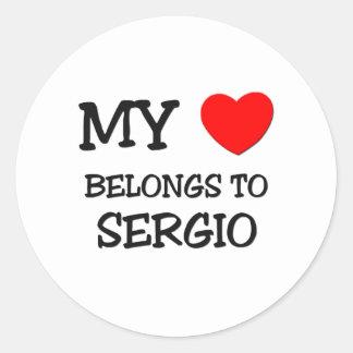 My Heart Belongs to Sergio Stickers