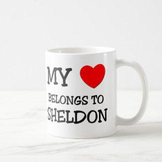 My Heart Belongs to Sheldon Basic White Mug