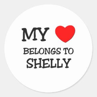 My Heart Belongs To SHELLY Stickers
