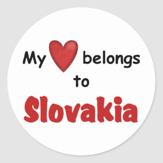 My Heart Belongs to Slovakia Classic Round Sticker
