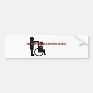 My Heart Belongs To Someone Special Bumper Sticker
