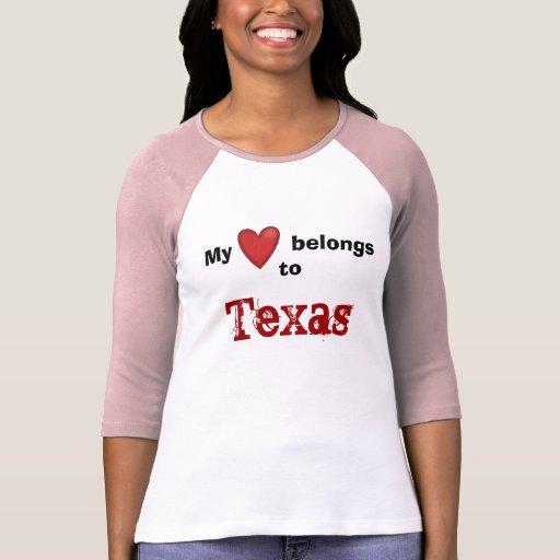 My heart belongs to texas tee shirt zazzle for Texas tee shirt company