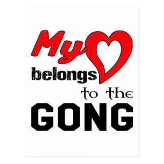 My heart belongs to the Gong. Postcard