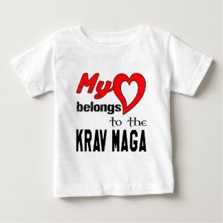 My heart belongs to the Krav Maga. Shirts