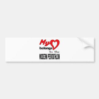 My heart belongs to the Modern Pentathlon. Bumper Sticker