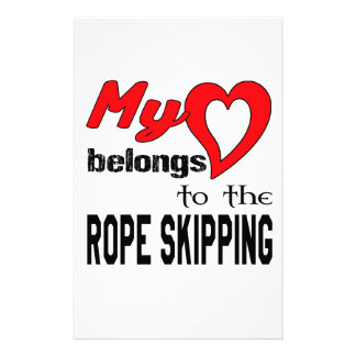 My heart belongs to the Rope Skipping. Customized Stationery