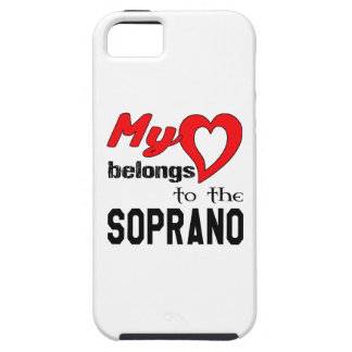 My heart belongs to the Soprano. Tough iPhone 5 Case