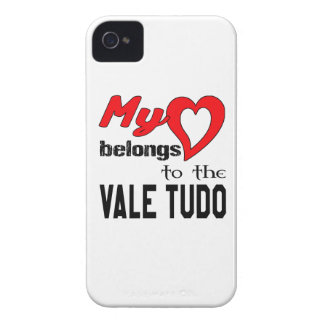 My heart belongs to the Vale Tudo. iPhone 4 Case-Mate Cases