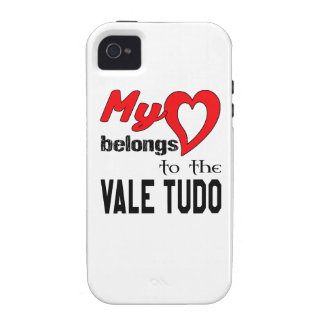 My heart belongs to the Vale Tudo. Vibe iPhone 4 Cases