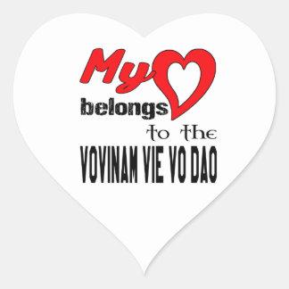 My heart belongs to the Vovinam vie vo dao. Heart Sticker