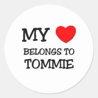 My Heart Belongs to Tommie Round Sticker