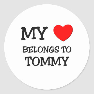 My Heart Belongs to Tommy Round Stickers