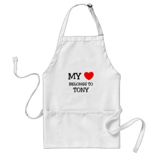 My Heart Belongs to Tony Standard Apron
