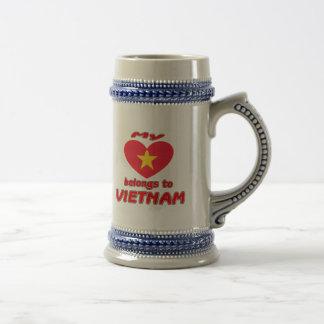My heart belongs to Vietnam Beer Steins