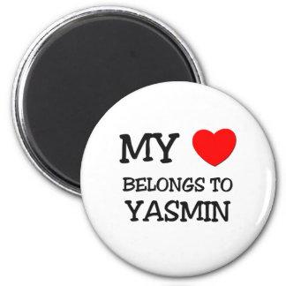 My Heart Belongs To YASMIN 6 Cm Round Magnet