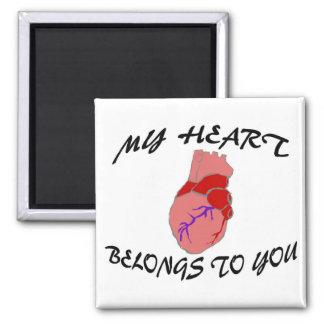 My Heart Belongs To You Fridge Magnet