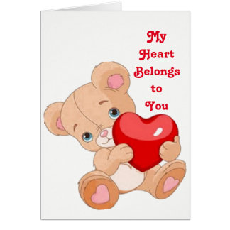 My Heart Belongs to You Valentine Greeting Card