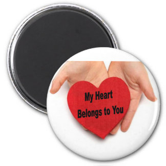 My Heart Belongs To You Valentine Hands Refrigerator Magnet