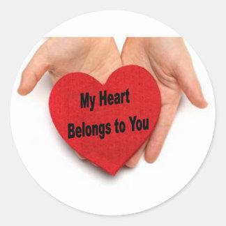 My Heart Belongs To You Valentine Hands Sticker
