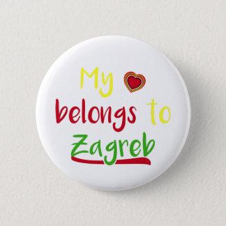 My heart belongs to Zagreb Croatian Badge