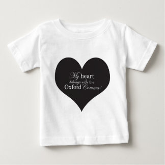 My Heart Belongs with the Oxford Comma Tee Shirt