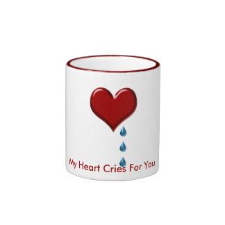 My Heart Cries Valentine Mug