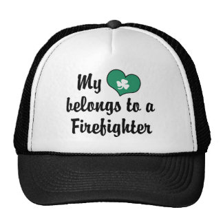 My Heart Firefighter Trucker Hat