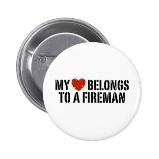 My Heart Fireman 6 Cm Round Badge