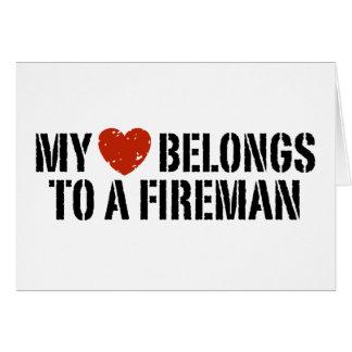 My Heart Fireman Greeting Card