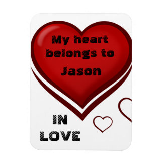 My Heart Rectangular Photo Magnet