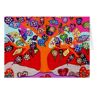 My Heart Flowers For You Tree Of Life Card