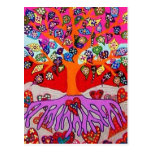 My Heart Flowers For You Tree Of Life Post Cards