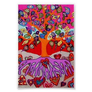 My Heart Flowers For You Tree Of Life Poster