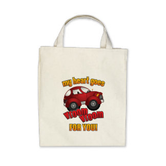 My Heart Goes Vroom Vroom For You! Bags