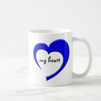 My Heart II mug (blue)