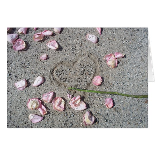 My Heart In The Sand LOVE CARD