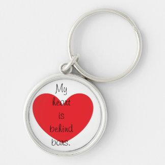 My heart is behind bars keychain