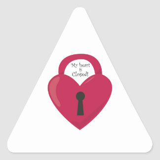 My Heart Is Closed! Triangle Sticker
