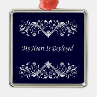 My Heart is Deployed Christmas Ornament