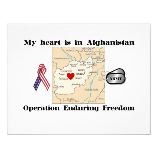 My Heart is in Afghanistan Personalized Invites