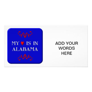 My heart is in Alabama Picture Card