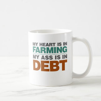 My Heart is in Farming but... Basic White Mug