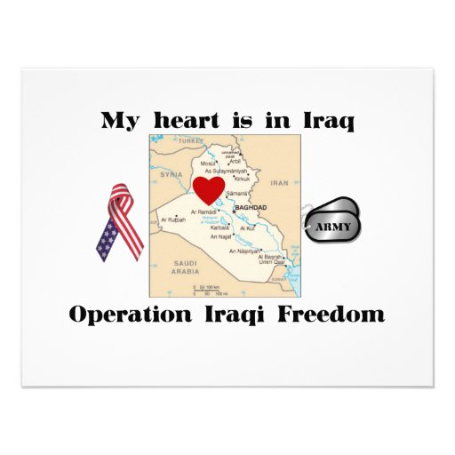 My Heart is in Iraq Personalized Invitation