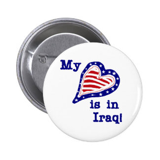 My Heart is in Iraq Tshirts and Gifts Pin