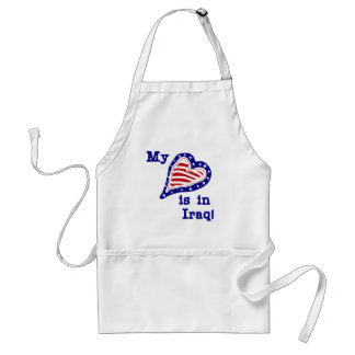 My Heart is in Iraq Tshirts and Gifts Standard Apron