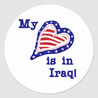 My Heart is in Iraq Tshirts and Gifts Stickers