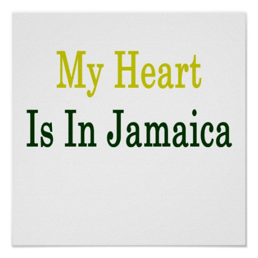 My Heart Is In Jamaica Poster