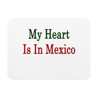 My Heart Is In Mexico Rectangular Photo Magnet
